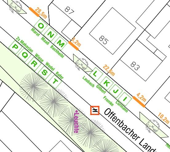 Standplan zum Hainburger Markt 2015 - Detailplan Künstlermarkt DIN A3