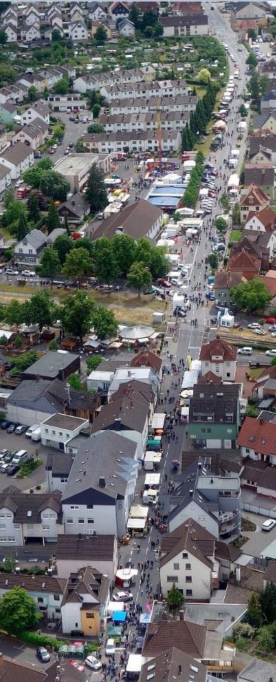 Luftbild vom Hainburger Markt 2015 - Foto: Joachim Blumör