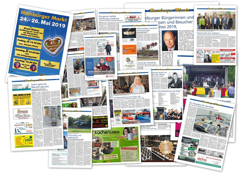 Collage Marktzeitung Hainburger Markt 2019