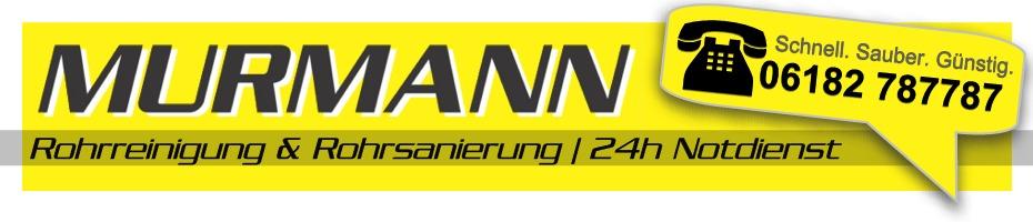 Rohrreinigung Murmann: schnell, sauber, günstig - mit 24h Notdienst!