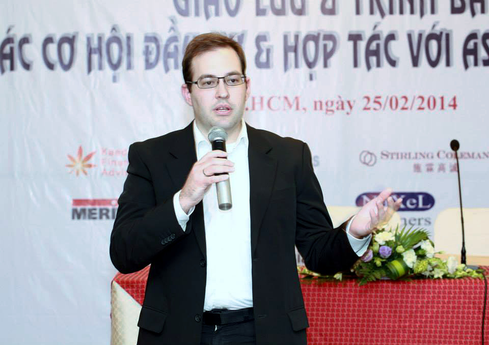 Tobias Kemmerer, Director Europe @ ASIA M&A Group, Meeting in HCMC, Vietnam 2014